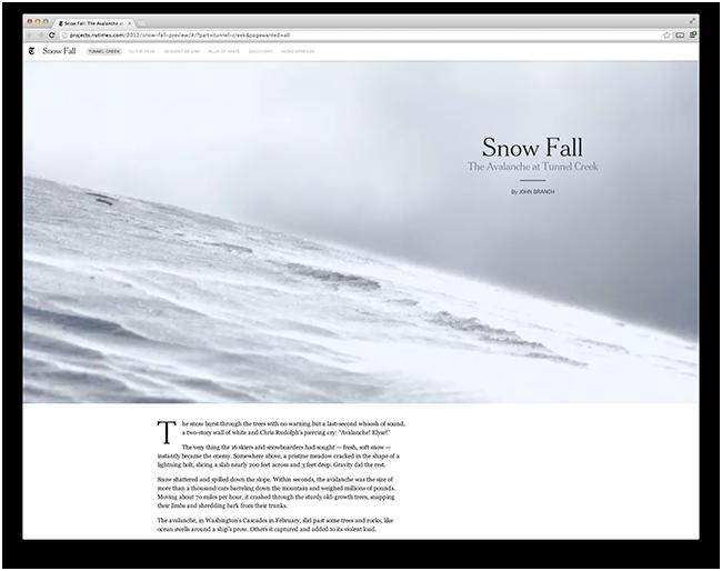 NTY Snowfall Article