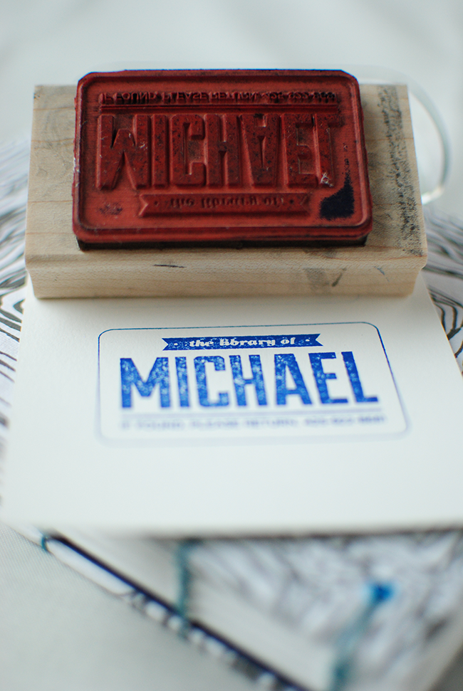 mike's custom library stamp
