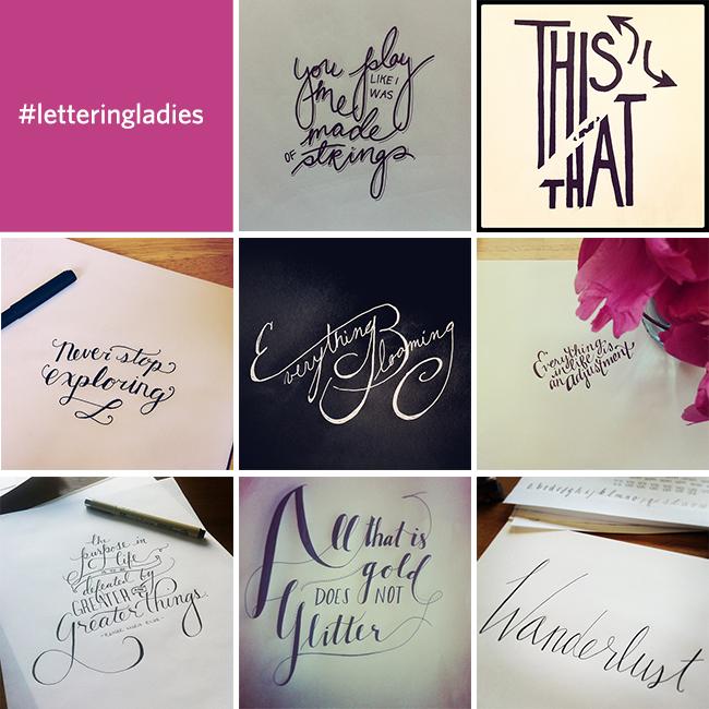 #letteringladies